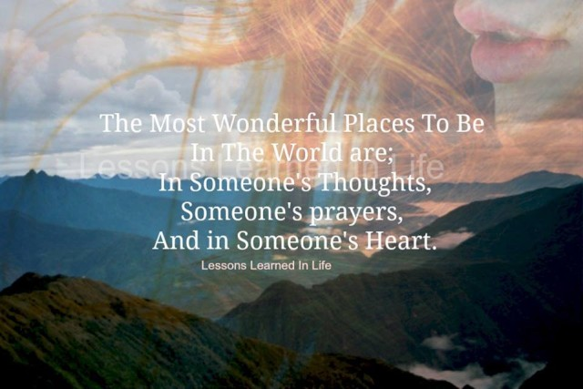 Lessons Learned In Lifethe Most Wonderful Places To Be Lessons Learned In Life