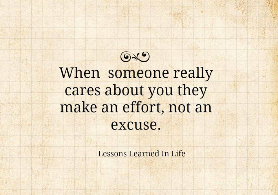 lessons learned in lifenot an excuse lessons learned in
