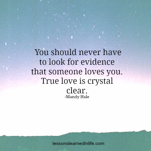 Lessons learned in life crystal clear