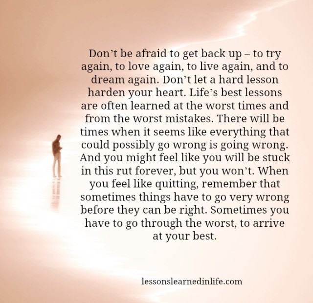 Get Back Up Quotes: Lessons Learned In Life