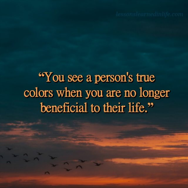 Lessons Learned in LifeTrue Colors. - Lessons Learned in Life