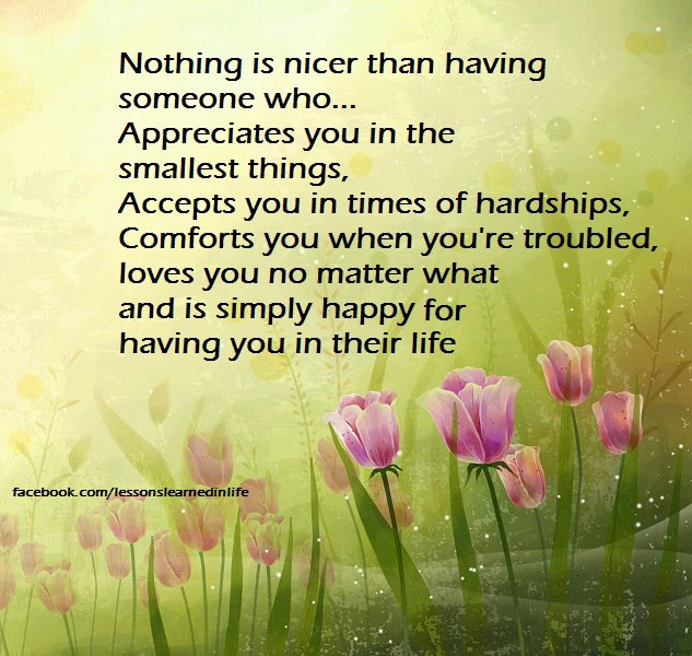 Quotes About Love Relationships: Lessons Learned In LifeNothing Is Nicer Than Having