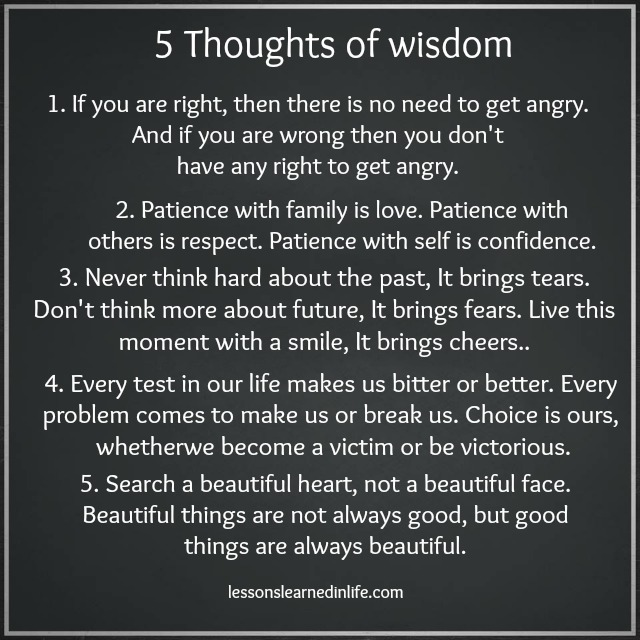 Our Thoughts And Hearts Are With The Victims Of The Aurora: Lessons Learned In Life5 Thoughts Of Wisdom.