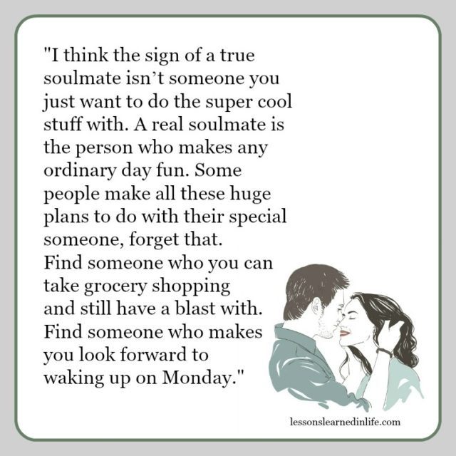 lessons learned in lifea real soulmate lessons learned in life