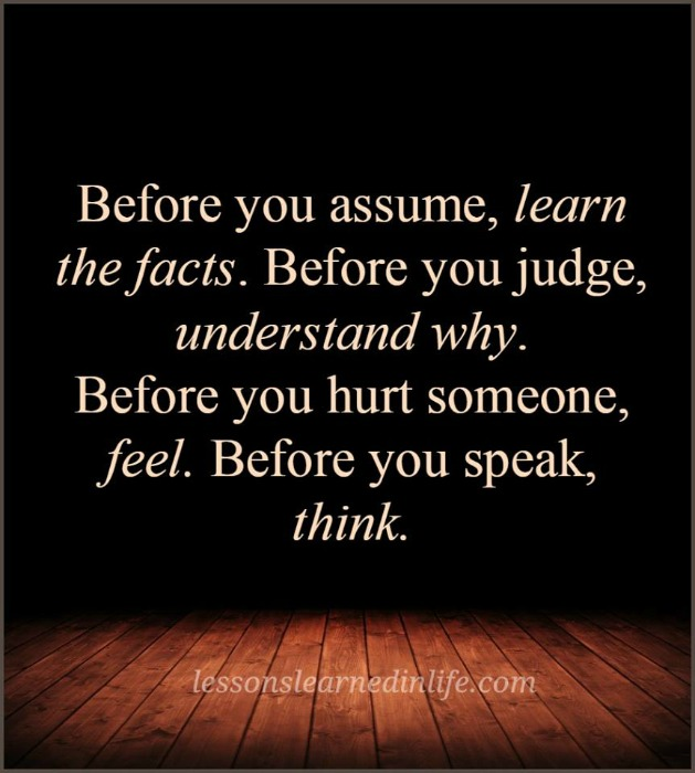 Lessons Learned In Lifealways Think Twice Lessons Learned In Life
