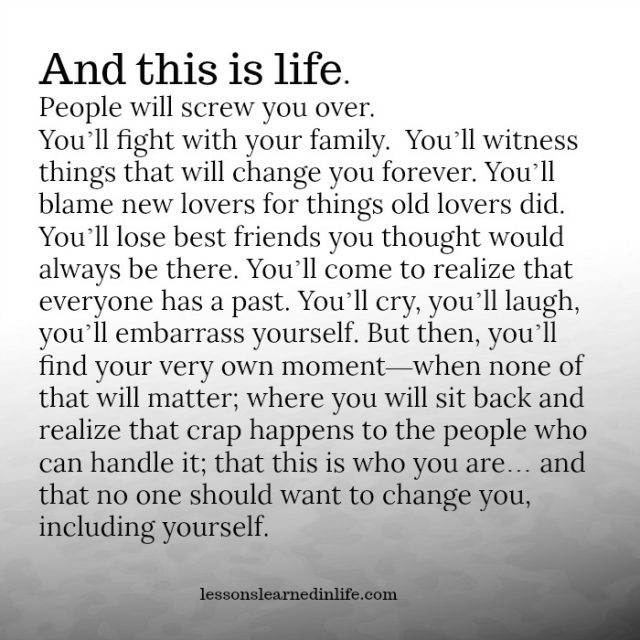Quotes About A New Person In Your Life: Lessons Learned In LifeQuote Of The Day
