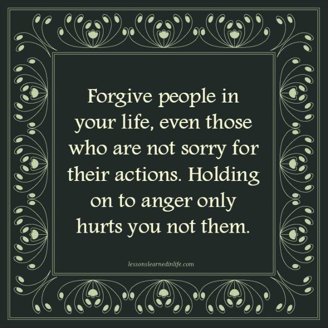 Anger hurts you.