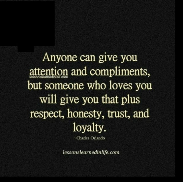 Anyone can give you attention. - Lessons Learned in Life