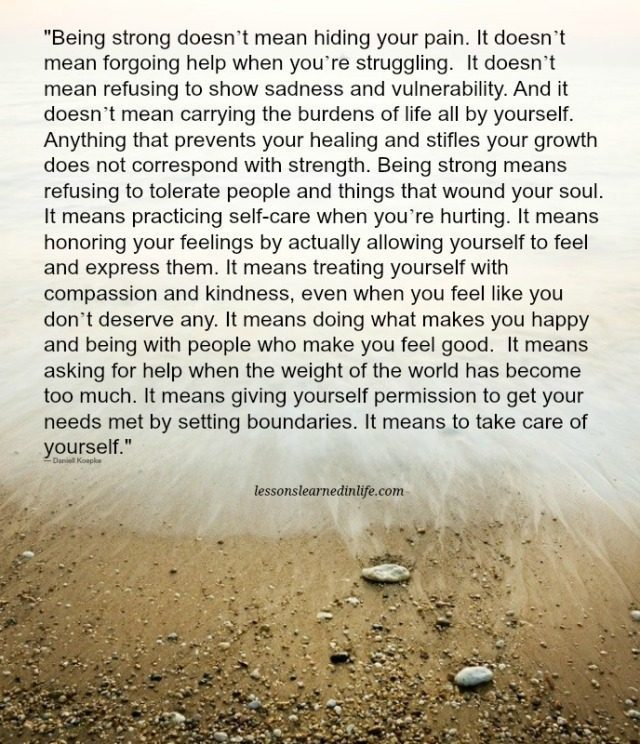 Lessons Learned in LifeBeing strong. - Lessons Learned in Life