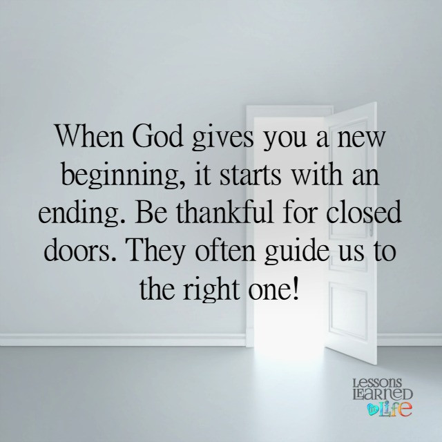 Lessons Learned In Lifeclosed Doors Lessons Learned In Life