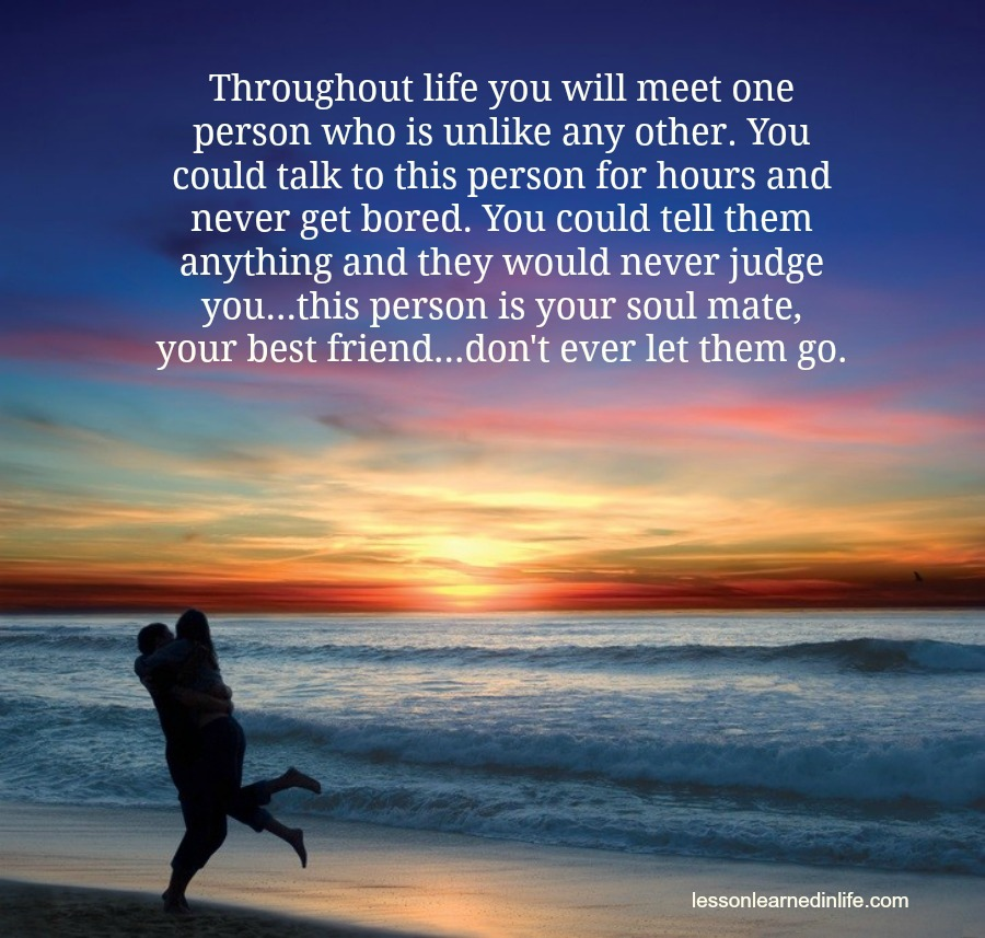 Love Each Other When Two Souls: Lessons Learned In LifeYour Soulmate.