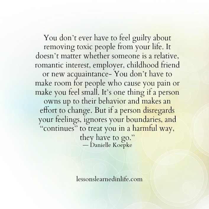 Lessons Learned In LifeYou Don't Ever Have To Feel Guilty