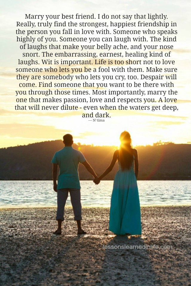 Love Each Other When Two Souls: Lessons Learned In LifeMarry.