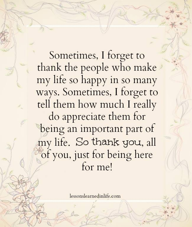 Quotes To Say Thanks: Lessons Learned In LifeDon't Forget To Say Thank You