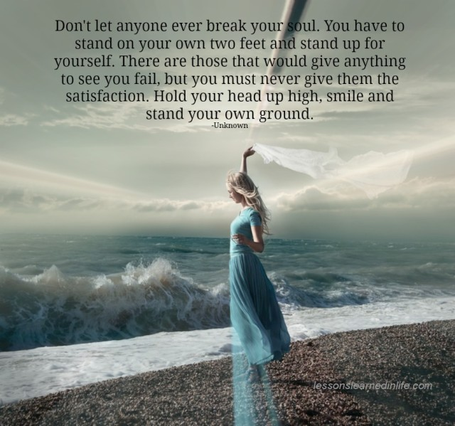 Lessons Learned In Lifedont Let Anyone Break Your Soul Lessons