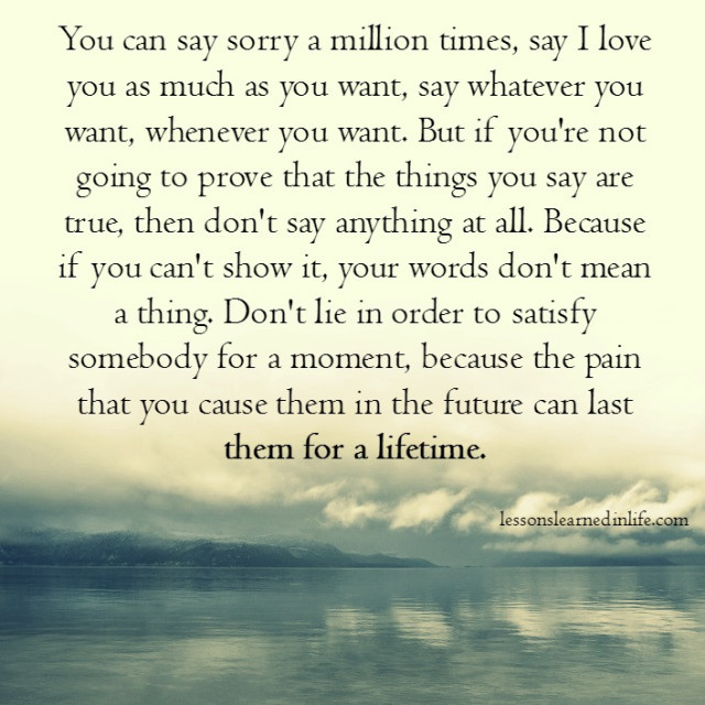 Lessons Learned In Lifedon T Lie Lessons Learned In Life