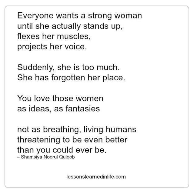 Lessons Learned In Lifeeveryone Wants A Strong Woman Lessons