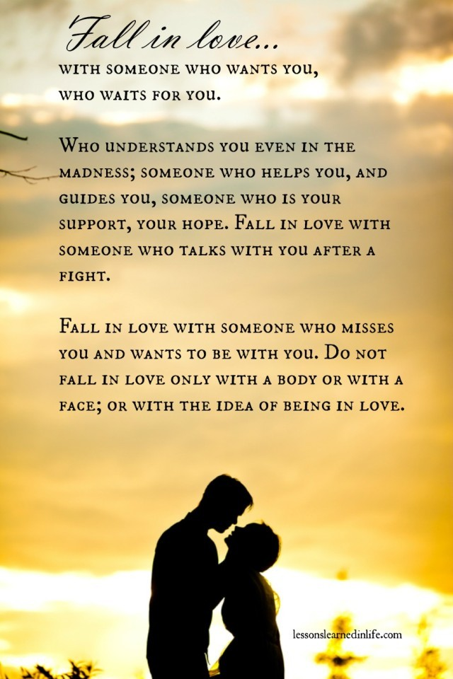 Awesome Lessons Learned In LifeIf You Ever Fall In Love.   Lessons Learned In Life