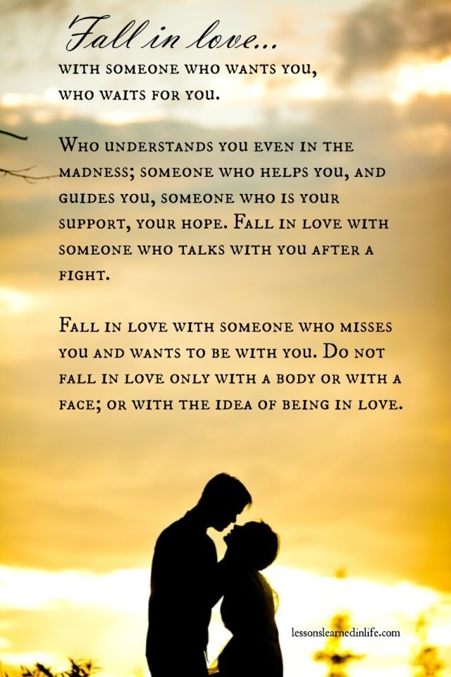 Love Each Other When Two Souls: Lessons Learned In LifeFall In Love With Who Waits For You