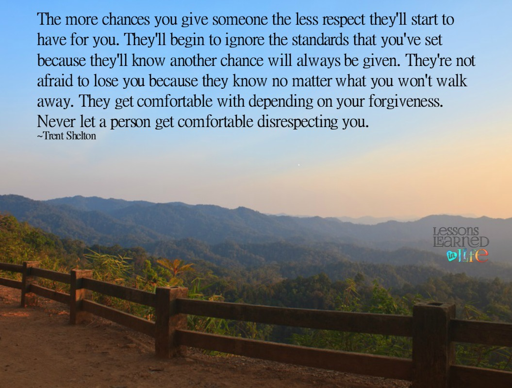 Lessons Learned In LifeHow Many Chances Do You Give