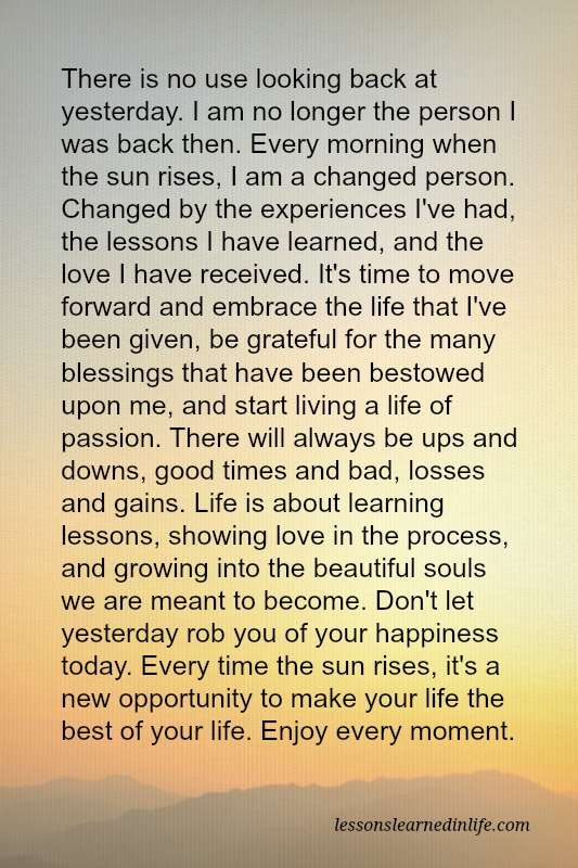 Lessons Learned In Lifei Am A Changed Person Lessons