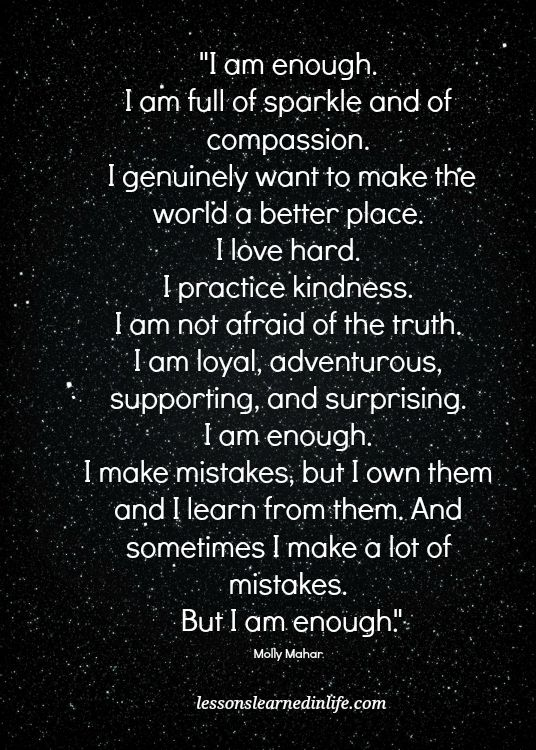 Lessons Learned In Lifei Am Enough Lessons Learned In Life