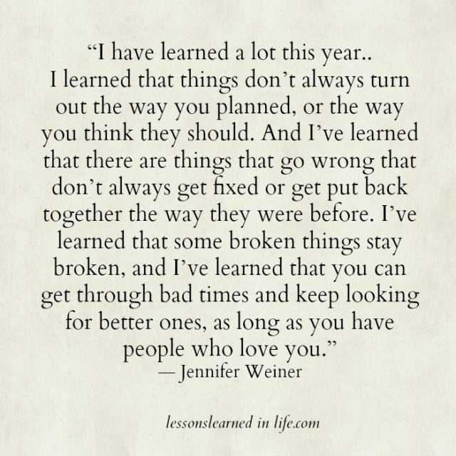 Lessons Learned in Life | I have learned a lot this year. Poems About Life Lessons Learned