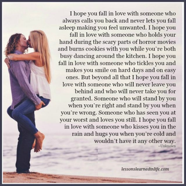 Falling In Love Is Easy But Staying In Love Quotes: Lessons Learned In LifeI Hope You Fall In Love With