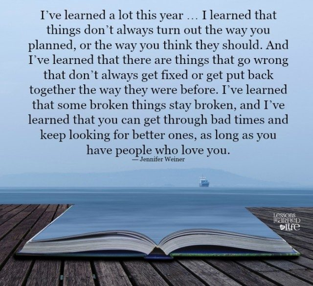 Love Finds You Quote: I Learned A Lot This Year