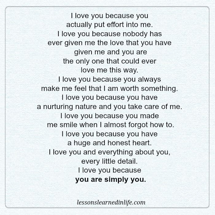 I Love You Because: Lessons Learned In LifeI Love You Because.