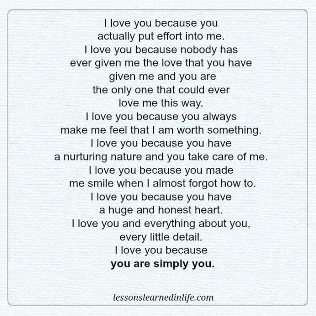 I Love You Because Quotes Unique Lessons Learned In LifeI Love You Because Lessons Learned In Life