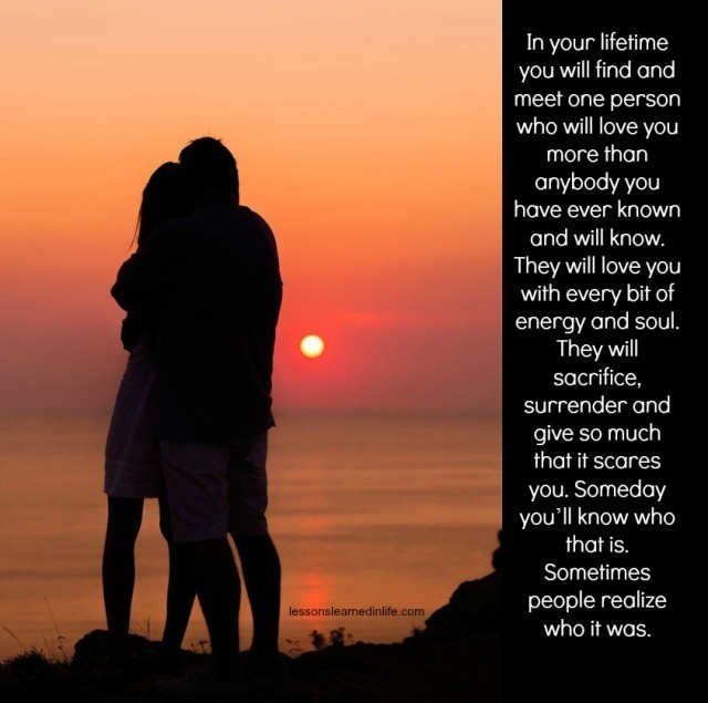 Love Each Other When Two Souls: Lessons Learned In LifeIn Your Lifetime You Will Find