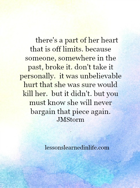 Lessons Learned In Lifeit Was Unbelievable Hurt Lessons Learned