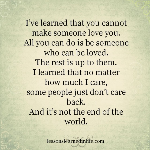 Lessons Learned In Lifeits Not The End Of The World Lessons