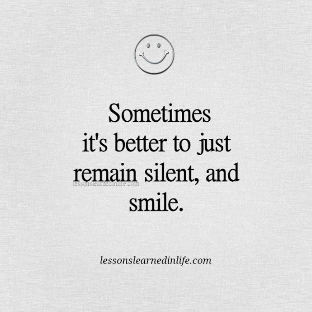 Lessons Learned in LifeJust smile. - Lessons Learned in Life