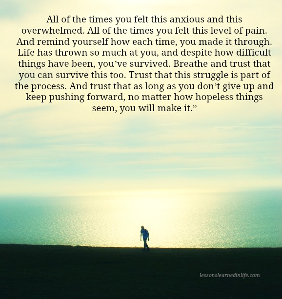 Lessons Learned in LifeKeep pushing forward. - Lessons ...