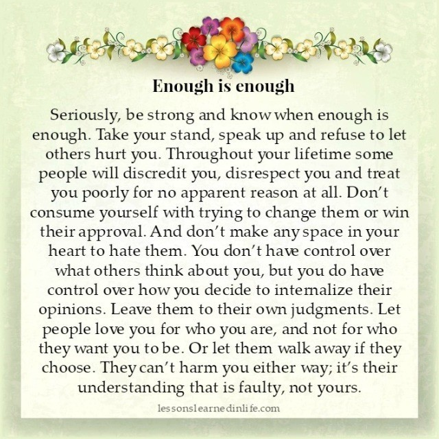 Lessons Learned In Lifeknow When Enough Is Enough Lessons Learned