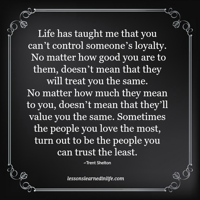 what life has taught me