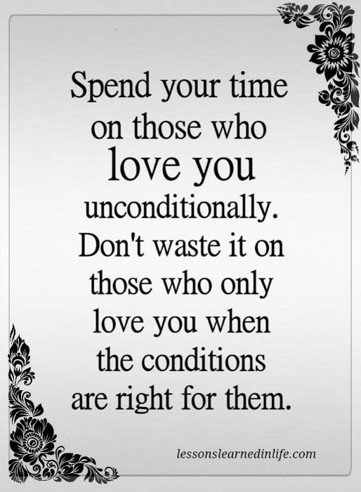 Lessons Learned in Life | Love you uncondionally.