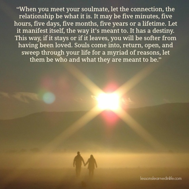 Love Each Other When Two Souls: Lessons Learned In LifeMeeting Your Soulmate.