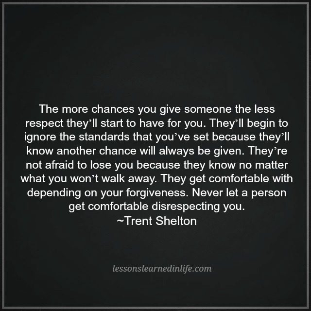Lessons Learned In Lifenever Let A Person Disrespect You Lessons