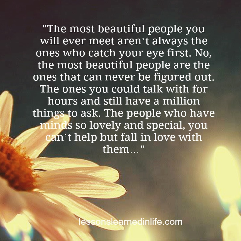 Lessons Learned In Lifecant Help But Fall In Love With Them
