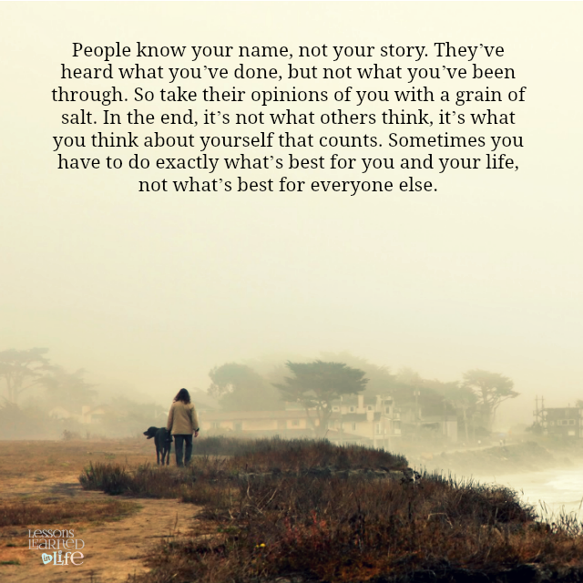 People know your name, not your story.
