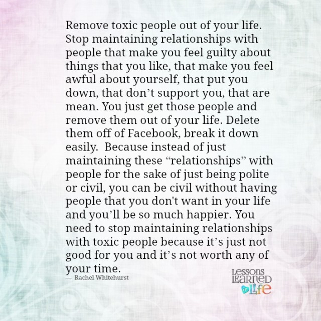 Removing Toxic People Quotes Quotesgram