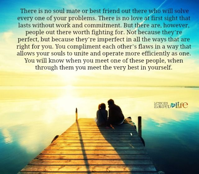 Love Each Other When Two Souls: Lessons Learned In LifeSomeone Who Is Right For You