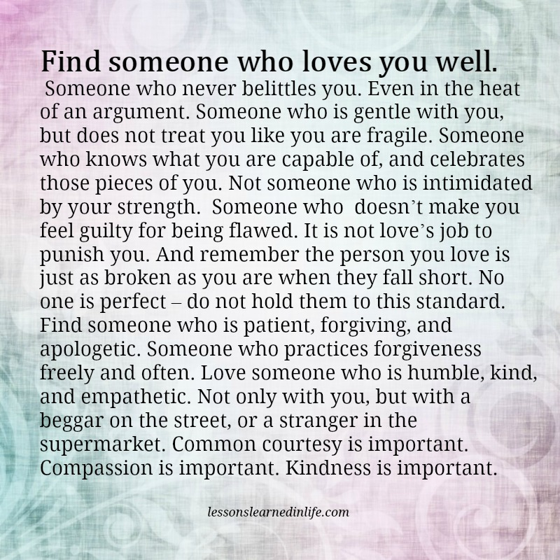Lessons Learned In Lifesomeone Who Loves You Well Lessons Learned