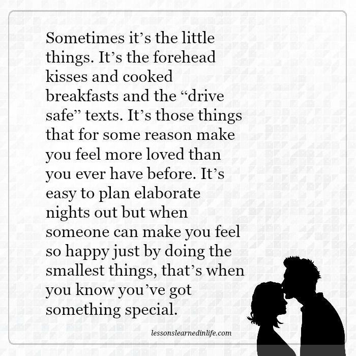 Lessons Learned in LifeSometimes it\'s the little things ...