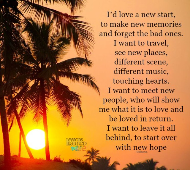 Lessons learned in lifestart over with new hope lessons learned in life - The house in which life starts over ...