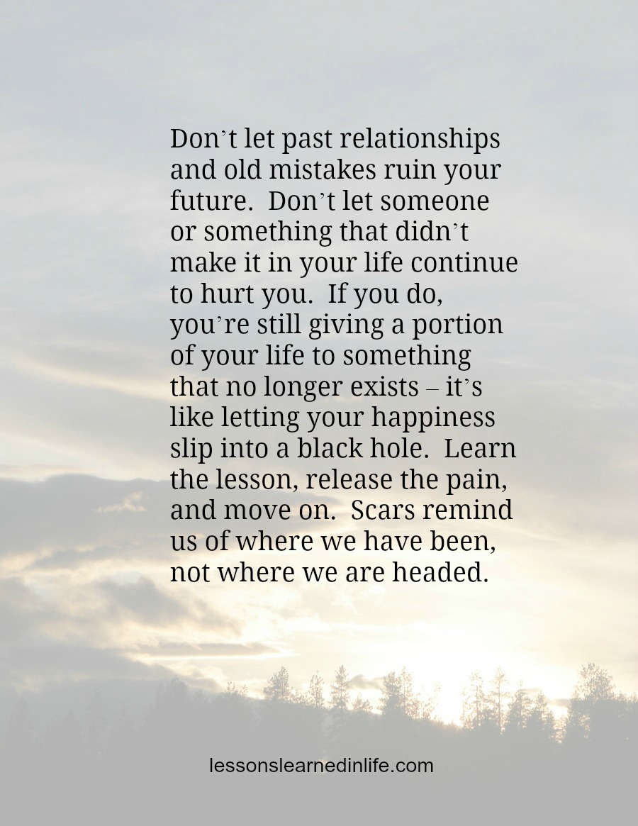 Hurt from past relationships