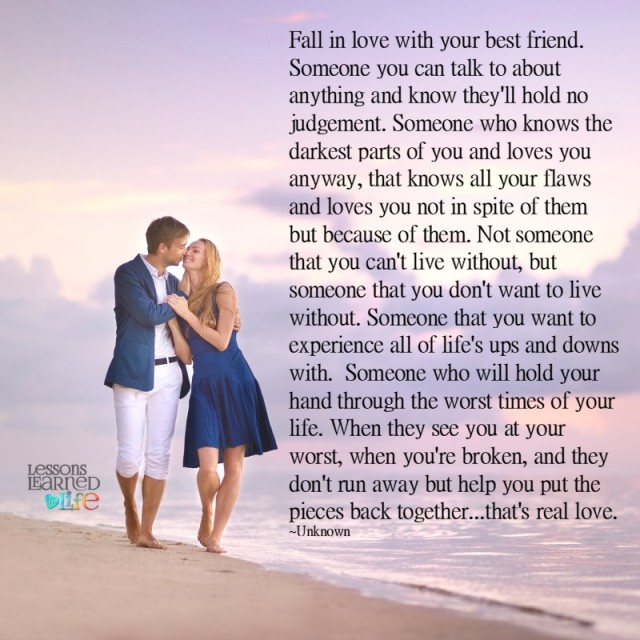 Love Each Other When Two Souls: Lessons Learned In LifeThat's Real Love.